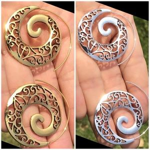 Jewelry - ⚜️GORGEOUS BOHEMIAN SPIRAL HOOPS⚜️